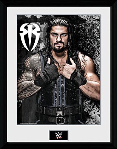 1art1-100290-wrestling-wwe-roman-reigns-photo-gerahmtes-poster-fur-fans-und-sammler-40-x-30-cm