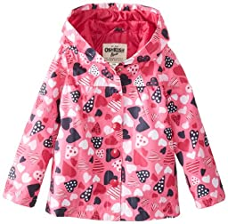 Osh Kosh Baby Girls\' Printed Slicker, Pink Heart, 12 Months
