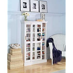 White cabinet glass bookcase door in Bookcases - Compare Prices