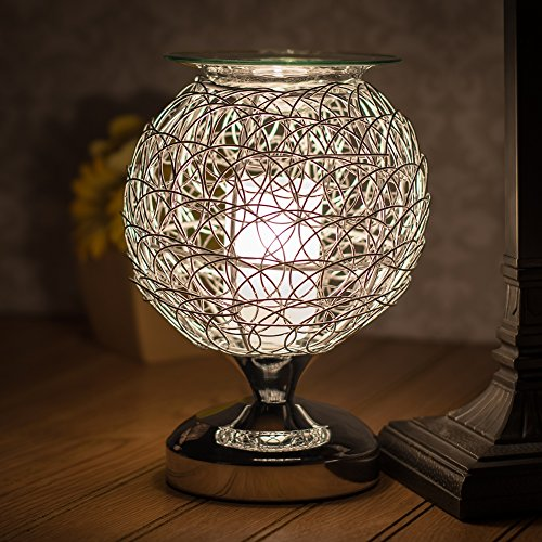 Metal Wire Ball Chrome Electric Oil And Wax Warmer