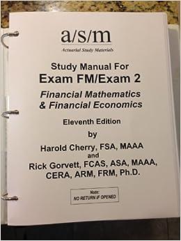 Download Actex Study Manual Soa Exam Fm Cas Exam 2 PDF