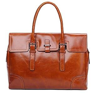 Genuine Leather Top Handle Tote Satchel Business Messenger Briefcase Handbag