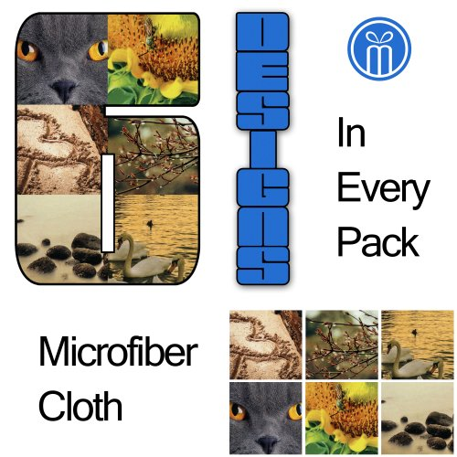 (6 Different Designs, 6 Months Guarantee) Live-Inz Super Hi-Microfiber Cleaning Cloth For Ipads, Notes, Lens , Any Other Delicate Surfaces (Extremely Light, Soft And Smooth, Lint-Free, Streak - Free, Non- Abrasive Super Absorbent, Amazing Cleaning Ability