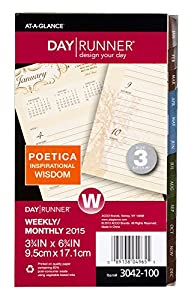 Day Runner Poetica Weekly and Monthly Planner Refill 2015, 3.75 x 6.75 Inches Page Size (3042-100)
