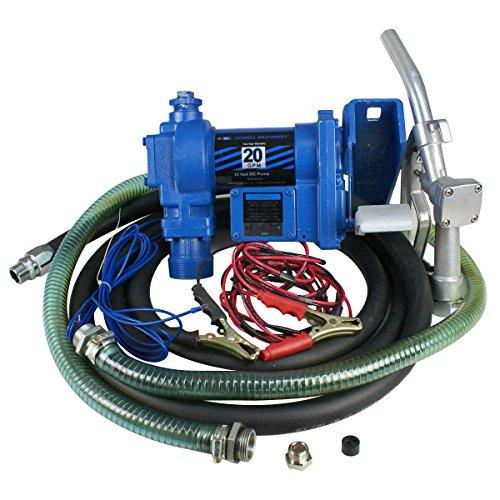 Zeny Fuel Transfer Pump 12 Volt 20 GPM Diesel Gas Gasoline Kerosene Car Tractor Truck Self-Priming W/ Nozzle (#01) (Fuel Pump Transfer 20 Gpm compare prices)