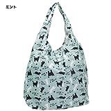 クロネコ[エコバッグ]折りたたみお買い物かばん/2nd ネコ【ミント 】