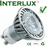 3W Interlux™ GU10 Brilliant White; High power USA chip LED