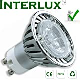 3W Interlux™ GU10 Brilliant White; High power USA chip LEDby Interlux