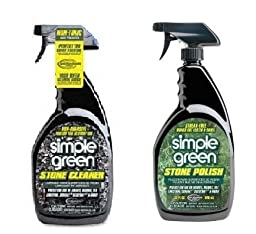 Simple Green Stone Cleaner and Polish, 16 ounces trigger spray, 2 pack bundle