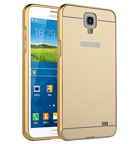 Galaxy Mega 6.3 I9200 Case, Ranyi [Mirror Series] Luxury Aluminum Metal Bumper Frame Detachable + Bling Mirror Hard Back Cover [Thin Fit & Slim] Case for Samsung Galaxy Mega 6.3 i9200 (gold) (Bumper For Samsung Mega compare prices)