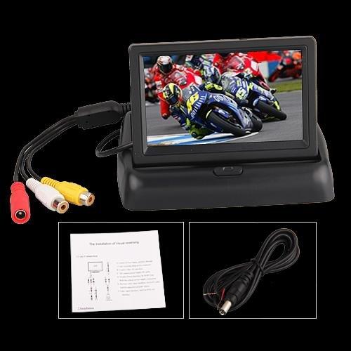 43-LCD-Ecran-Moniteur-Pliant-Pliable-Vue-Arrire-Pour-Camra-de-Recul-Voiture