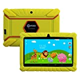 "Contixo Kids Safe 7"" Quad-Core Tablet 8GB, Bluetooth, Wi-Fi, Cameras, 20+ Free Games, HD Edition w/ Kids-Place Parental Control, Kid-Proof Case (Yellow)"