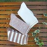 オーガニックコットンパイル靴下:保温性に優れています!ルームソックスとして!