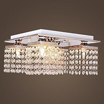 Decken Lampe Pendel Kristall Optik Retro Antik Lüster Hänge Leuchte Kronleuchter