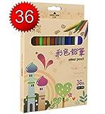 Crayons de Couleur Kazimir 36-Couleurs Coloré Crayons Professionnel de Haute Qualité Artiste Jardin Secret Sketch Dessin Crayons Dessin Coloré Crayons de Coloriage Avec Trousse...