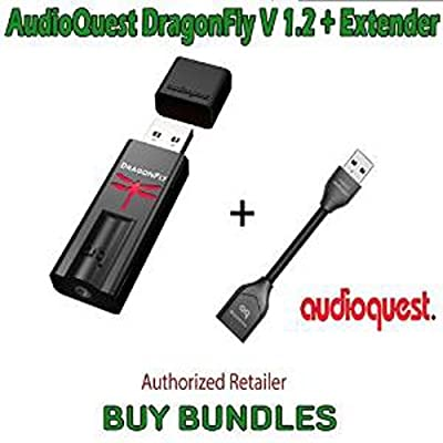 AudioQuest Dragonfly V1.2 USB DAC + AudioQuest DragonTail USB 2.0 Extender