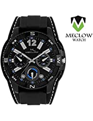 Meclow Analog Black Dial Watches For Men ML-LR-282-BLK-BLK