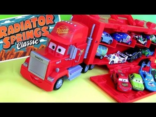 Disney / Pixar Cars Radiator Springs Edition Mack Truck Transporter 16 Car Carrying Case 1:55 Scale Mattel (Disney Pixar Cars Mack Truck compare prices)