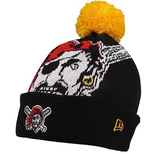 Pittsburgh Pirates Hats : Era Pittsburgh Pirates Woven Biggie Knit Cap - Black