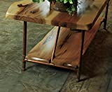 """Niangua Furniture Live Edge Rustic Coffee Table with Copper Pipe Legs - 48"""" x 23"""""""