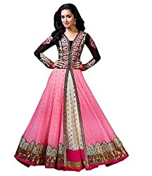 PariFashion Womens Georgette Lehenga Choli(PF6_Multi-Coloured_Free Size)
