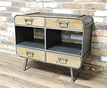 RETRO INDUSTRIAL CABINET- DRAWERS + SHELVES