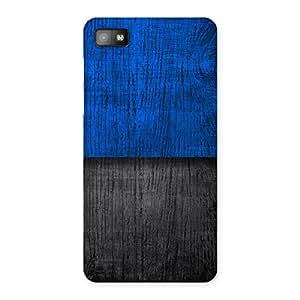 Impressive Blue Black Print Back Case Cover for Blackberry Z10