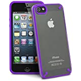 GreatShield Radiant Series Ultra Slim Fit Case for Apple iPhone 5 / 5S (Clear / Purple)