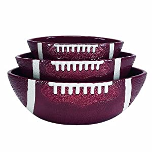 Boston Warehouse Touchdown Serving Bowl Set, Set of 3 by Boston Warehouse