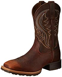 Ariat Men\'s Hybrid Rancher Western Boot, Brown Oiled Rowdy, 9.5 M US