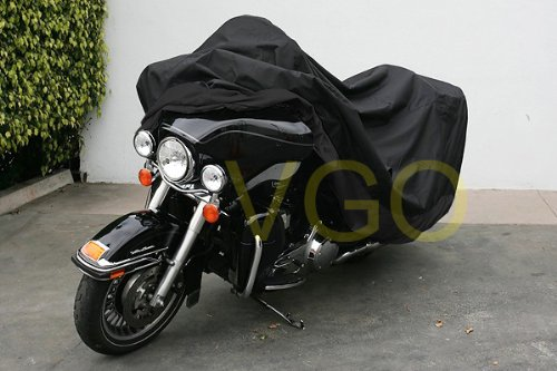 Black Motorcycle Cover For Honda VT1100 VT 1100 Shadow Bike - Cover XL