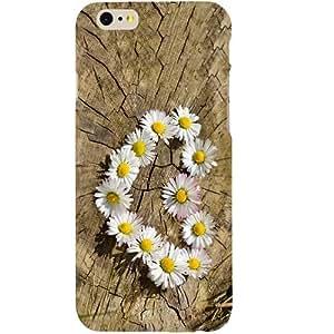 Casotec Flower Heart Design Hard Back Case Cover for Apple iPhone 6 / 6S