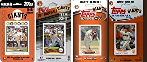 MLB San Francisco Giants 4-Different Licensed Trading Card Team Set by C&I Collectables