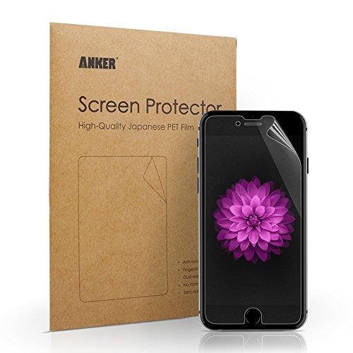 Anker® 【3枚入り】 iPhone 6 Plus用 液晶保護フィルム 高透明度 高感度 【18ヶ月保証】 (iPhone6 Plus 5.5インチ用 マット仕上げ)