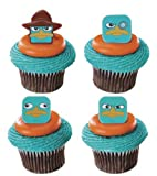 Official Crispie Sweets Cupcake Topper KIT - Phineas & Ferb Perry the Platypus - w/ Dusting Sugar Sampler & Bonus Card - 24 Rings - We Ship Within 1 Business Day w/ *FREE Standard Shipping!