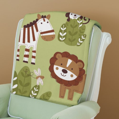 Summer Infant Luxury Plush Blanket, Jungle Buddies - 1