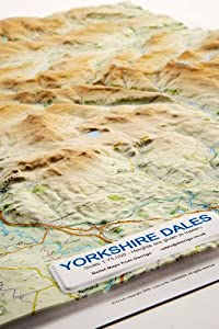 Yorkshire Dales Relief Map: Light Wood Frame (Raised Relief Maps Series)