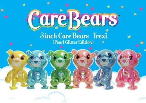 care-bears-trexi-set-of-all-6-pearl-glitter-edition-carebears-vinyl-mini-figures-by-play-imaginative