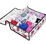 Fold 16 Cell Slot Undergarment Ties Underwear Sock Storage Organizer Box Case