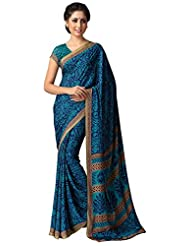 AG Lifestyle Women's Silk Saree(SD118, Blue)