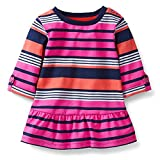 Carter's Baby Girls' 3/4 Sleeve Pink and Blue Stripe Tunic