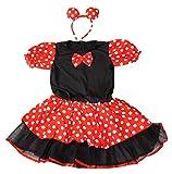 ディズニーミニーマウスキッズコスチュームハロウィン衣装コスプレワンピース子供用女の子赤(120cm,ミニーチュチュ)