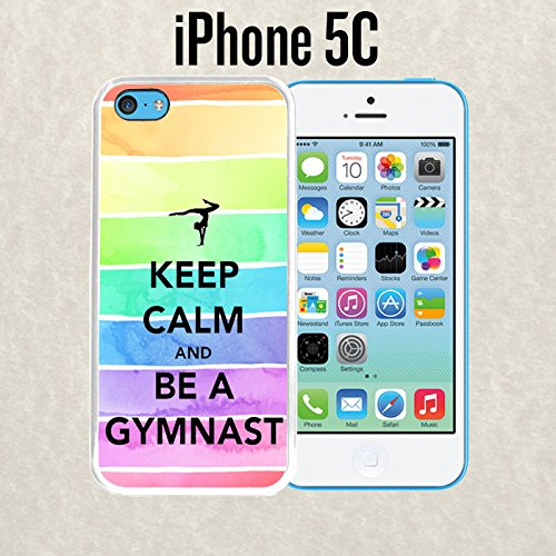iPhone Case Hipster Keep Calm Be A Gymnastics Gymnast Love for iPhone 5c Plastic White