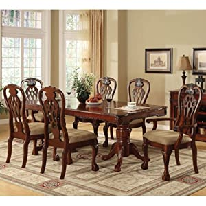 cherry finish formal dining set dining room furniture sets