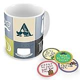 Little India Buy Papa Ke Dialogues Tea Coasters Get Coffee Mug Free (Multi-Color, Set Of 5)