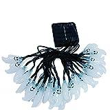 PALADY ハロウィン幽霊型LED飾りライト幽霊ランタン ハロウィン雰囲気アップ ハロウィンソーラーストリングライト30LEDセットハロウィンゴースト型ストリングライトソーラーパネル充電式ハロウィン クリスマス飾り