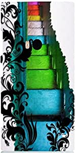 Snoogg Swirls And Multicolored 2705 Case Cover For Nokia 920