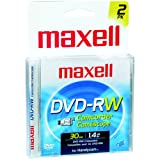 Maxell 567625 DVD-RW Re-Recordable Camcorder DVD - 2Pk