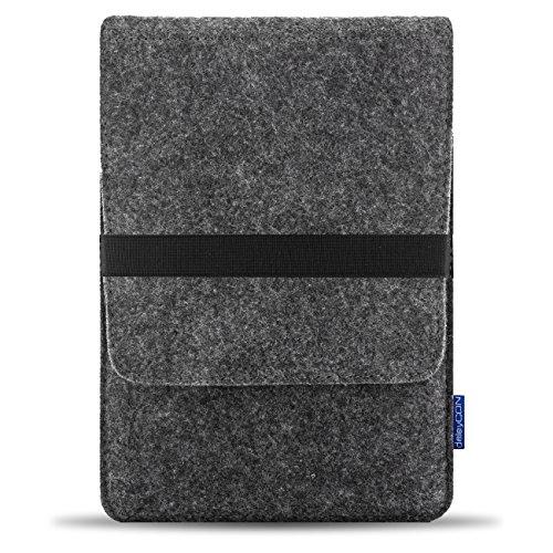 'deleyCON-Borsa/Custodia protettiva/Custodia/Case per Tablet ed ebook reader fino a 8(20,3cm) in robusto feltro-elastico flessibile, colore: grigio