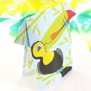 Amazon.com - 16 Serviettes papier pliées Toucan -